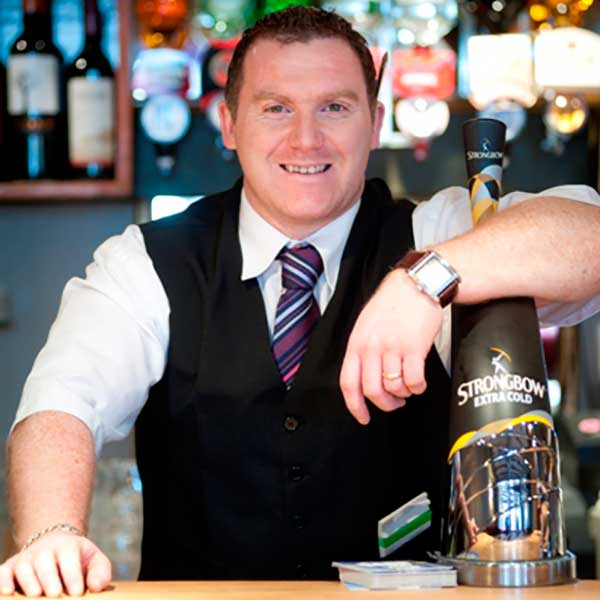 Barman at the Charlemont Arms Hotel